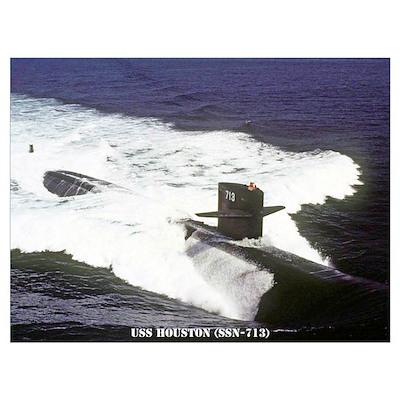 USS HOUSTON Wall Art Poster