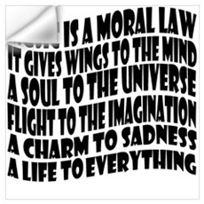 Music is a Moral Law Wall Art Wall Decal