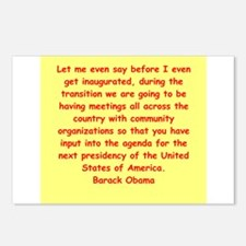 barack obama quotes Postcards (Package of 8)