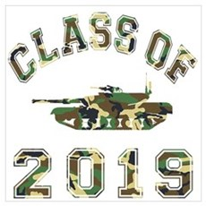 Class Of 2019 Military School Wall Art Poster
