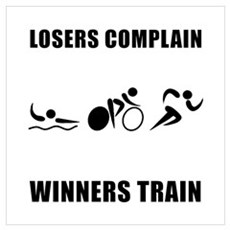 Triathlon Winners Train Wall Art Poster