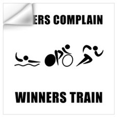 Triathlon Winners Train Wall Art Wall Decal