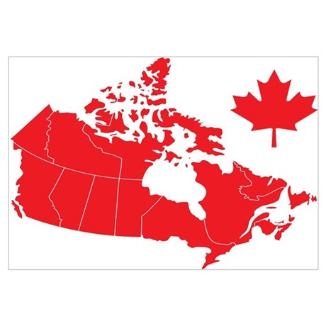 Canada Map Wall Art Poster