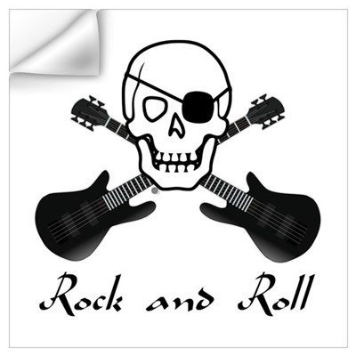 Rock and Roll Pirate Wall Art Wall Decal
