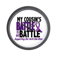My Battle Too Pancreatic Cancer Wall Clock