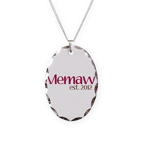 New Memaw 2012 Necklace Oval Charm