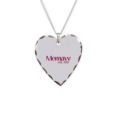 New Memaw 2012 Necklace Heart Charm