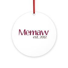 New Memaw 2012 Ornament (Round)