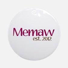 New Memaw 2012 Ornament (Round)