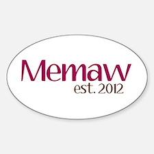 New Memaw 2012 Sticker (Oval)