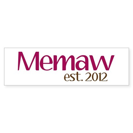 New Memaw 2012 Sticker (Bumper)