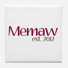 New Memaw 2012 Tile Coaster