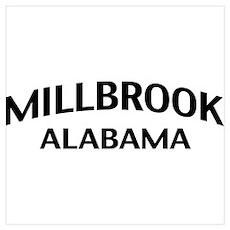 Millbrook Alabama Wall Art Poster