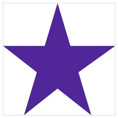 Five Pointed Purple Star Wall Art Poster