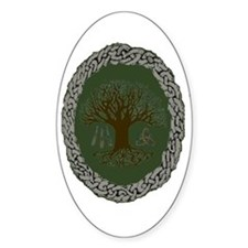 Druid Tree of Life Oval Decal