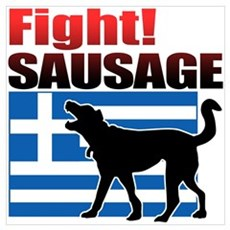 Fight! SAUSAGE Wall Art Poster
