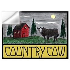 Country Cow Wall Art Wall Decal