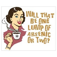 Funny Retro Coffee Humor Wall Art Poster