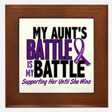 My Battle Too Pancreatic Cancer Framed Tile