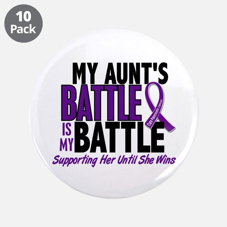 """My Battle Too Pancreatic Cancer 3.5"""" Button (10 pa"""