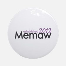 Memaw Established 2012 Ornament (Round)