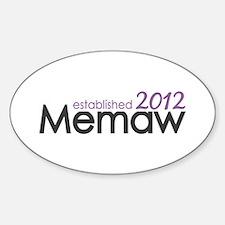 Memaw Established 2012 Sticker (Oval)