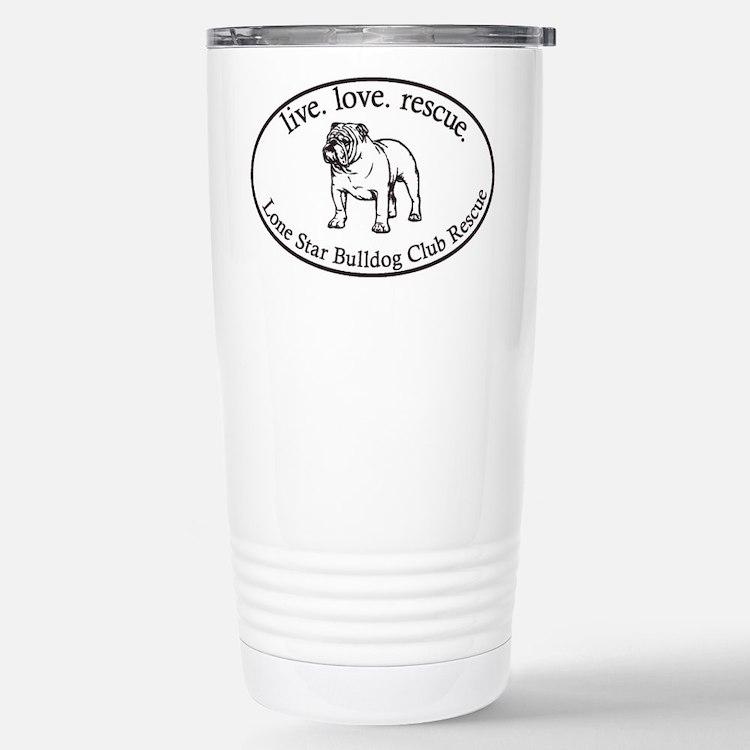 Cute Lone star bulldog club Travel Mug