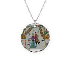 Russian Village in Winter Necklace