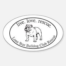 Cute Lone star bulldog club Decal