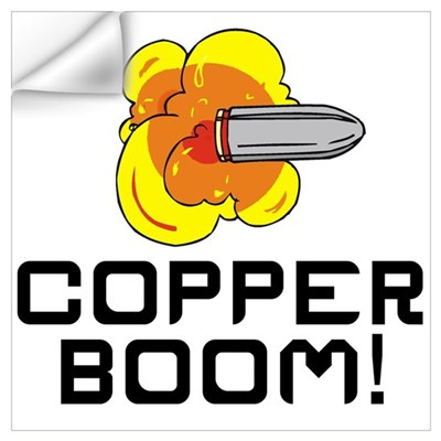 Copper Boom Wall Art Wall Decal