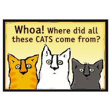 Unique Humorous cats Wall Art