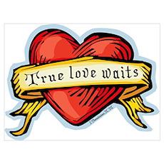 Heart True Love Waits Wall Art Poster