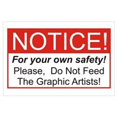 Notice / Graphic Artists Wall Art Poster