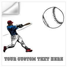 Baseball Player with Custom T Wall Art Wall Decal