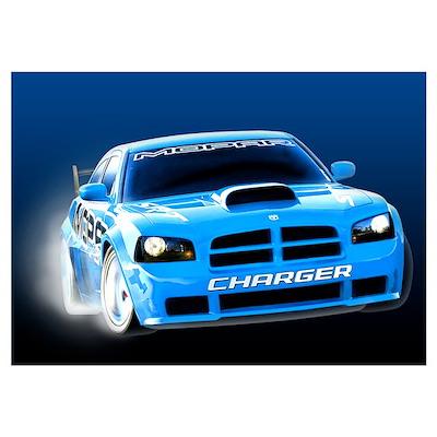 Charger Drift Wall Art Poster