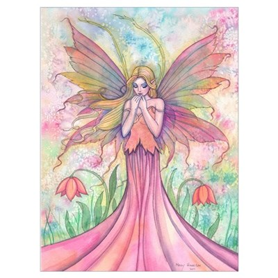 Wildflower Fairy Art Wall Art Poster