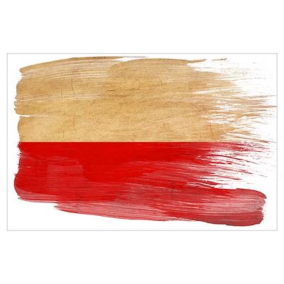 Poland Flag Wall Art Poster