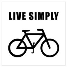 Live Simply Bike Wall Art Poster