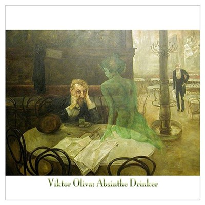 Absinthe Drinker Wall Art Canvas Art