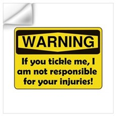 Warning Tickle Me Wall Art Wall Decal