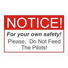 Notice / Pilots Wall Art Poster