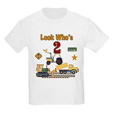 Construction Vehicles 2nd Birthday T-Shirt
