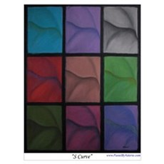 S Curve Wall Art Poster