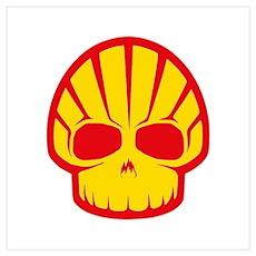 Shell Skull Wall Art Poster