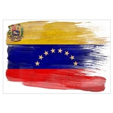 Venezuela Flag Wall Art Framed Print