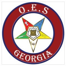 Georgia Order of the Eastern Star Wall Art Poster