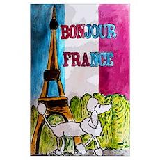 Bonjour France Wall Art Poster