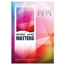 Social Work Matters Wall Art Framed Print