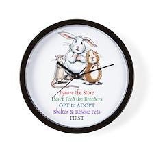 Opt to Adopt Wall Clock