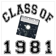 Class Of 1981 Computer Science Wall Art Poster